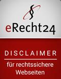 Disclaimer erstellt mit eRecht24