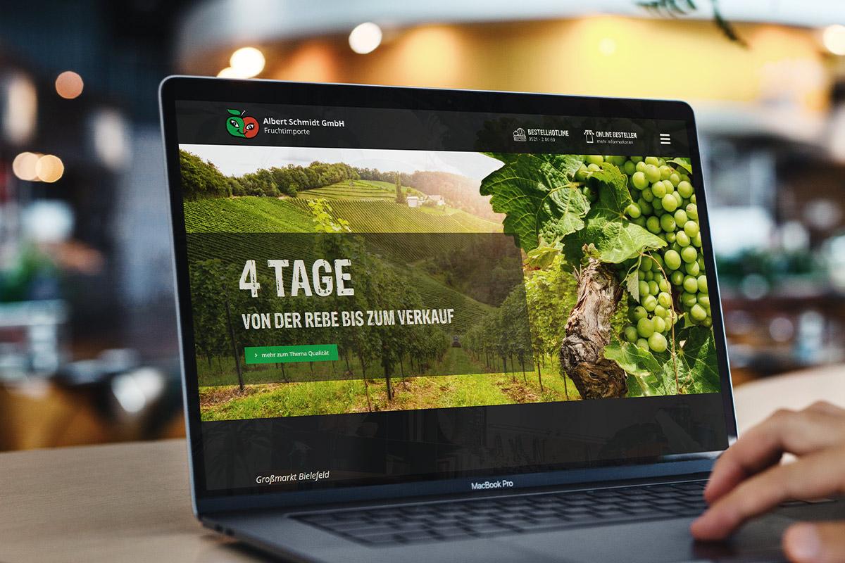 Moderne Website mit WordPress