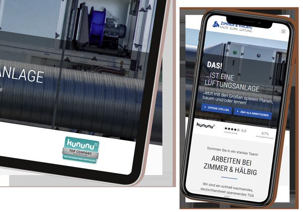 Zimmer & Hälbig Karriereportal Mobilgeräte