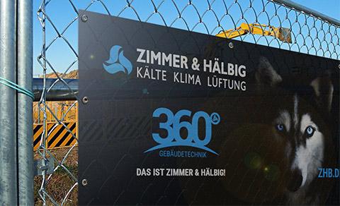 Zimmer & Hälbig Mesh Banner Bauzaun